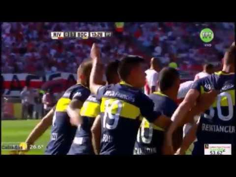 River Plate 2 - Boca Juniors 4 - Los goles del partidazo - El partido de Tévez - 11/12/2016