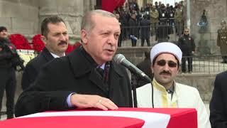 Cumhurbaşkanı Erdoğan Şehit Askere Böyle Veda Etti