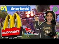 5 YEAR OLD LITTLE SISTER GOT VICTORY ROYALE IN MCDONALDS!! (5 YEAR OLD SISTER PLAYS LIKE NINJA!)