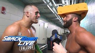 Die Hype Bros feiern ihre Qualifikation für die Survivor Series: SmackDown LIVE Fallout, 25. Okt.