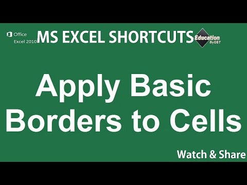 8. Apply Basic Borders to Cells - Microsoft Excel Shortcuts - online bachelors degrees ✔