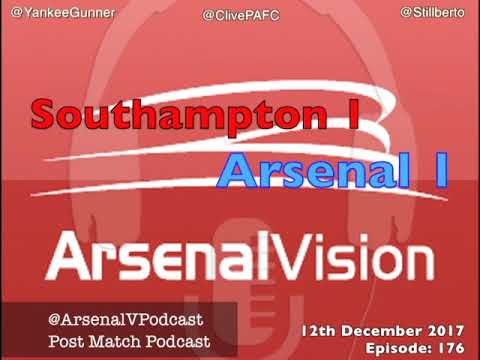 Arsenal Vision Post Match Podcast - EP176: Southampton (a) - Lost In The Warm Up