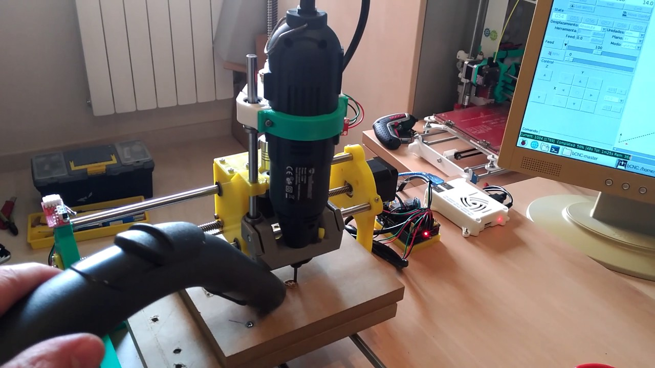 Cyclone autonomous with Raspberry pi driven by bCNC by