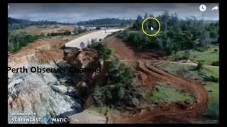 OROVILLE DAM SPILLWAY...NEW...BUILDING A STAIRWAY TO HEAVEN.