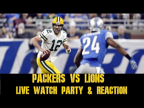 3ad58ce49 PACKERS VS LIONS LIVE WATCH PARTY & REACTION - YouTube