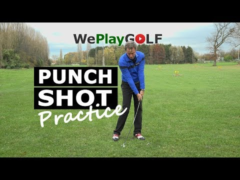 Golf instruction: How to play a PUNCH SHOT – driving range excercise