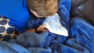 Kid goes rage on buying fake yeezys