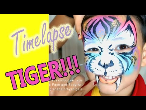 How to Face Paint a TIGER Face Painting Tutorial