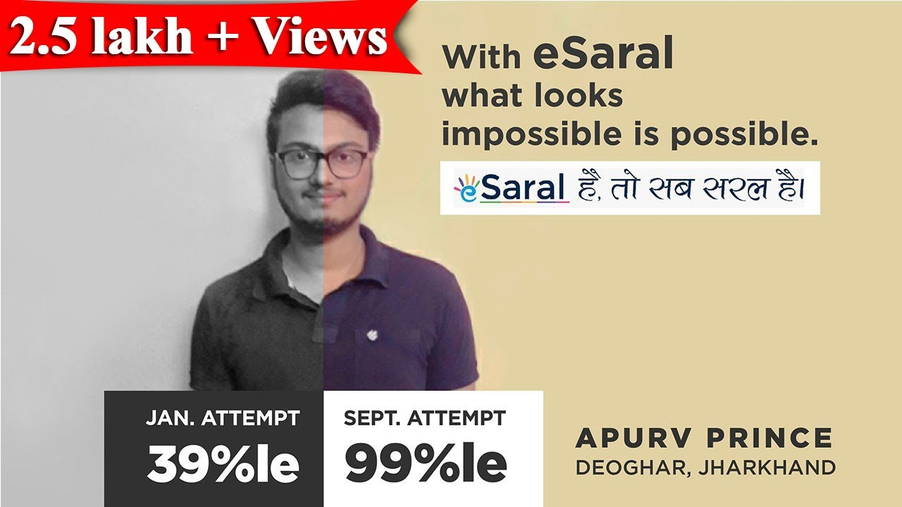 Download JEE Main 2020 | Apurv Prince's Journey from 39 to 99 %ile - #eSaral