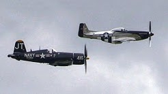 Chance Vought F4U Corsair & P-51D Mustang at Melbourne, 2014