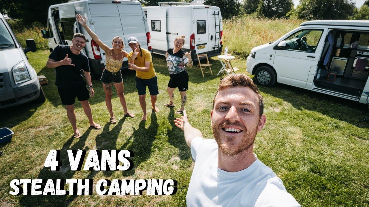 4 VANS Stealth Camping -  UK VAN LIFE AT ITS BEST!