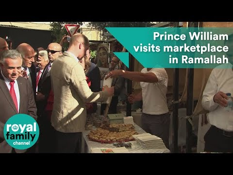 Prince William visits a West Bank marketplace in Ramallah