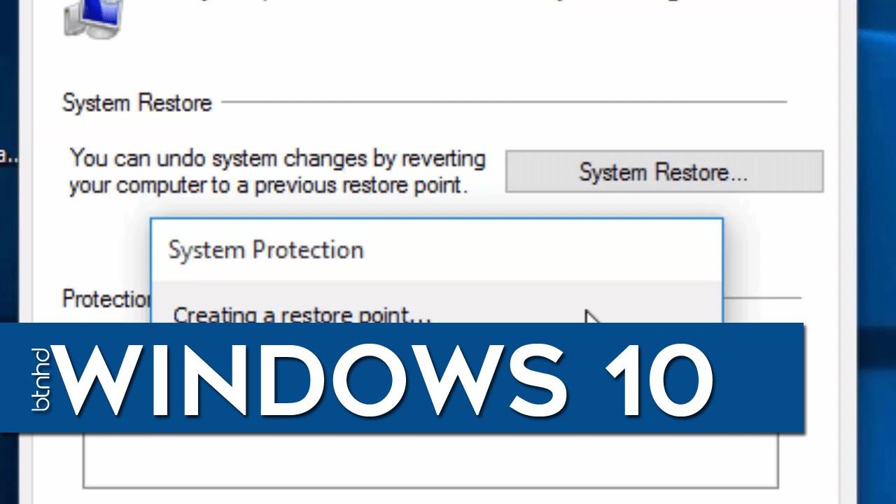 how to make system restore on windows 10
