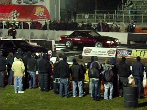 Nov 10' NO ET Turbo Mustang Coupe vs Dominic 88 Mustang Coupe