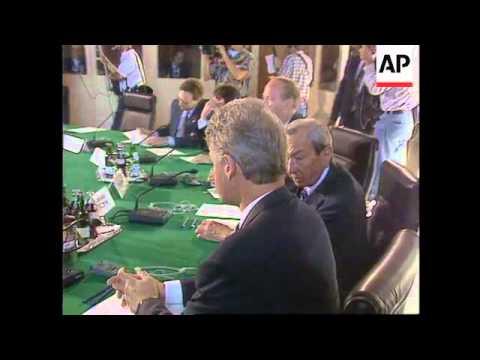 Germany - Clinton Talks With Kohl - YouTube