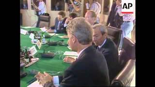 Germany - Clinton Talks With Kohl