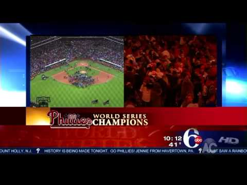 WPVI-TV 6ABC Philadelphia Coverage 10-29-08 - Phillies Win World Series