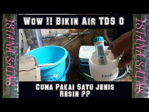 Air TDS Nol , Dengan Hanya Satu Jenis Resin Exchange Saja ??? #airtds0#resinpenukarion#airsehat