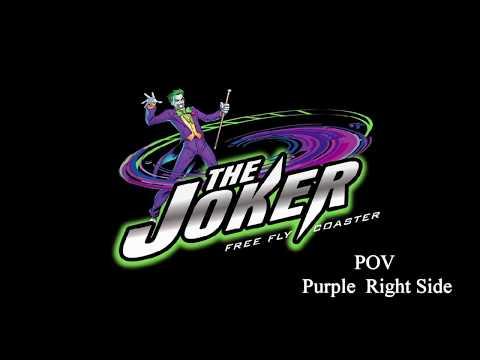 The Joker POV Purple Right Side Six Flags Great America