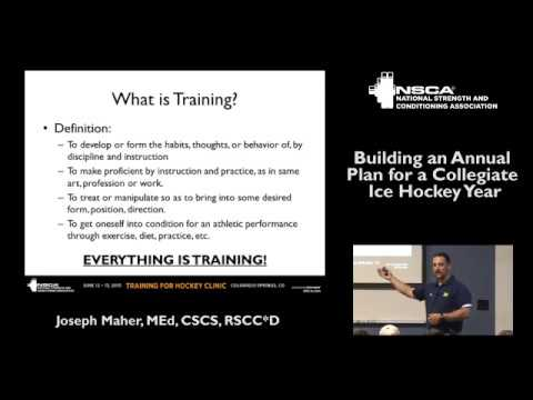 Building an Annual Plan for a Collegiate Ice Hockey Year, with Joe Maher | NSCA.com
