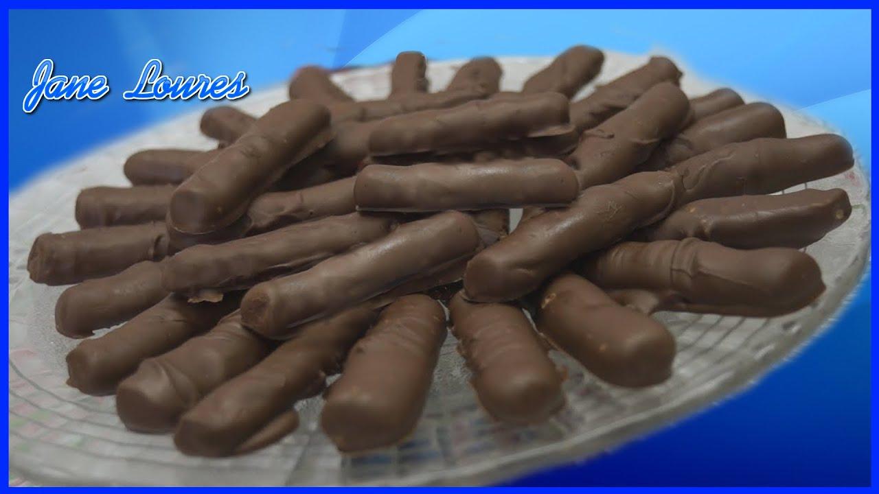 BARRINHAS DE CHOCOLATE (RECEITA DE PADARIA)