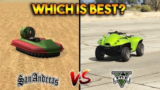 GTA 5 BLAZER AQUA VS GTA SAN ANDREAS VORTEX : WHICH IS BEST?