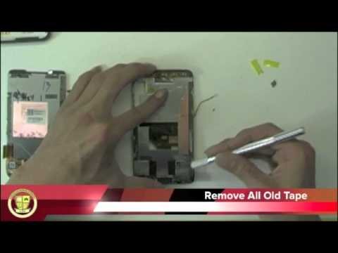 HTC HD2 GLASS DIGITIZER REPLACEMENT TAKE APART HTC HD2