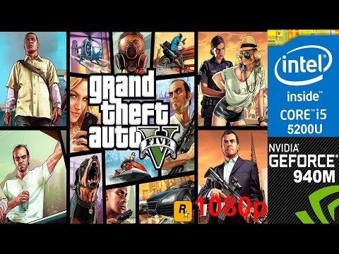 GTA 5 on HP Pavilion 15 ab032TX Default Settings 1080p, Core i5 5200u + Nvidia Geforce 940m