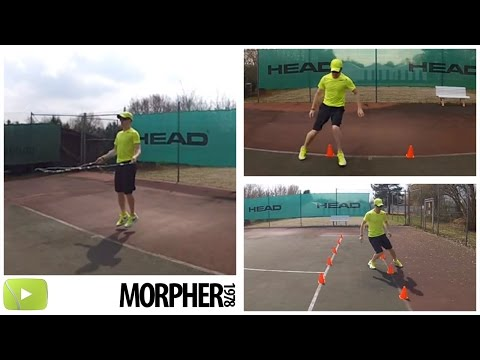 Tennis Beinarbeit: 6 effektive Übungen / Tennis / Footwork: 6 effective exercises