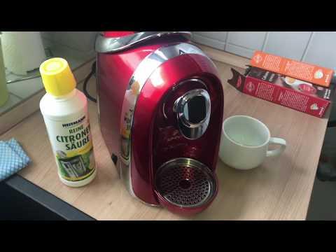 Tchibo CAFISSIMO Kaffeemaschine entkalken mit Zitronen Säure Citonensäure Entkalkung Anleitung