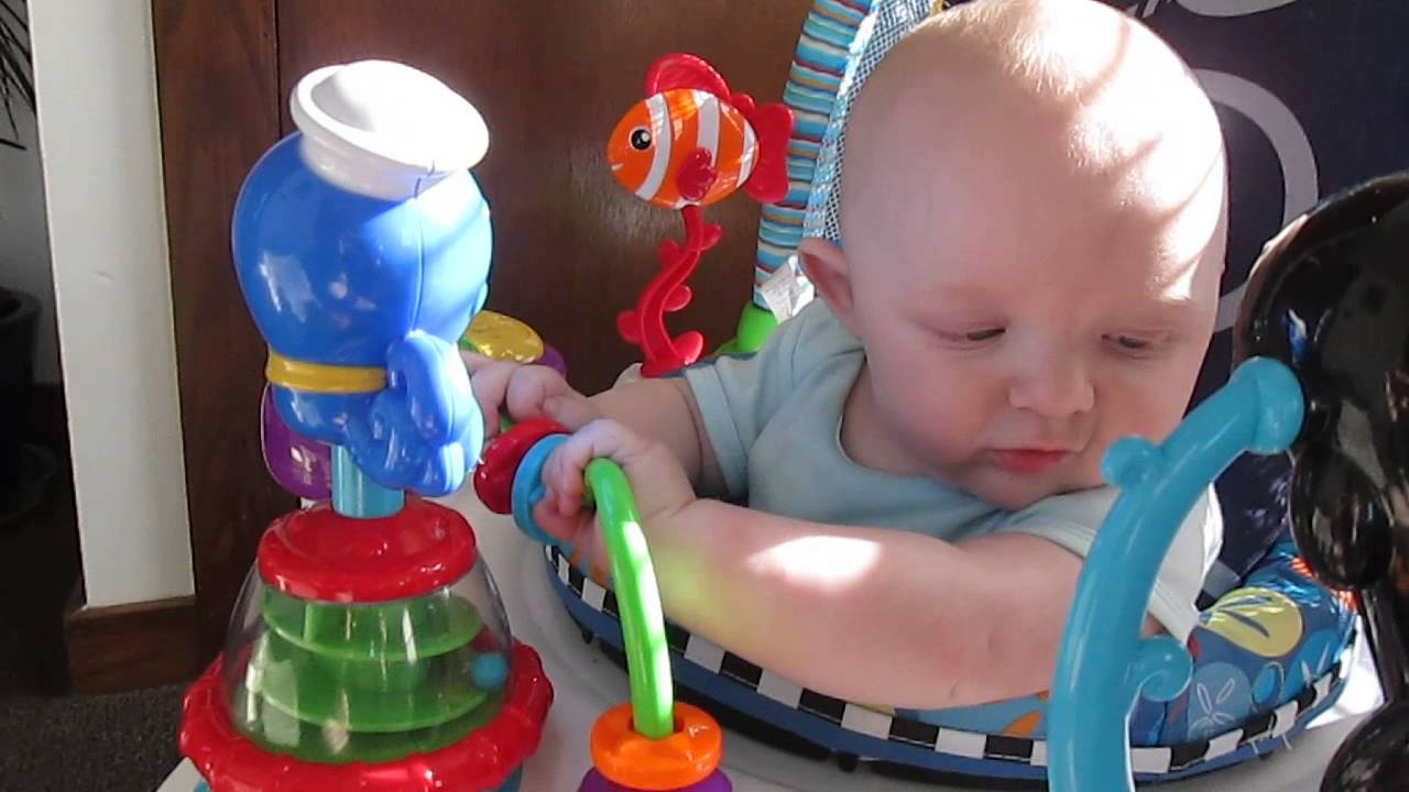 fb6baacbf Odin Playing With His Baby Einstein Neptune Activity Saucer - YouTube