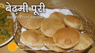 Bedmi Poori Recipe Video - Bedmi Poori Recipe - Urad Dal Puri