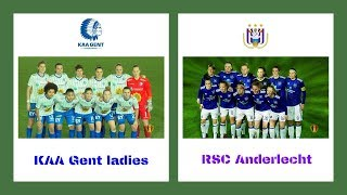 KAA Gent ladies vs RSC Anderlecht verslag Sportbeat 0 2