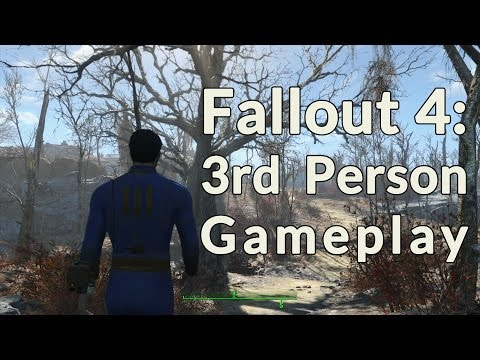 Fallout 4  - Third Person Gameplay Footage