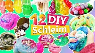 12 Schleim DIYs | Schleim Videos für Kinder | Slime selber machen | Einhorn Kacke | Orbeez Schleim