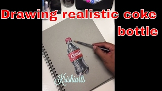 Drawing realistic coke bottle with prismacolors