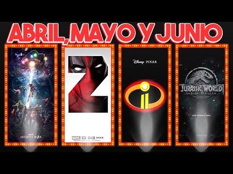 Películas 2018: Avengers3, Deadpool2, Increíbles2, JurassicWorld2, NewMutants y más