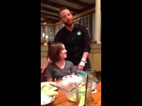 Olivia 39 S Birthday Song At Olive Garden Youtube