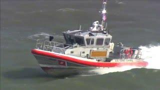 Coast Guard Boat in Rough Seas