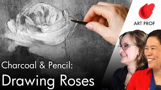 How to Draw a R๐se in Pencil & Charcoal