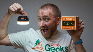 Rechargeable LED Lantern with Battery Bank Review