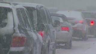 Heavy Snow Snarls Monday Evening Commute