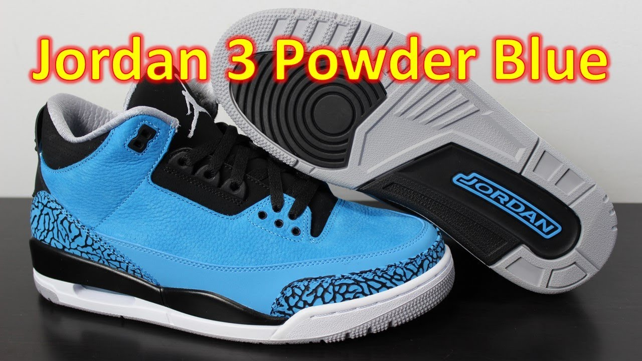 Air Jordan 3 Retro Powder Blue - Review + On Feet - YouTube d799e4f74