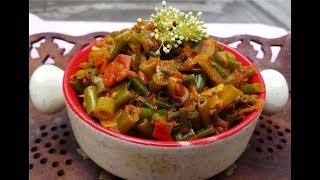 Spring onion tomato curry/Spring onion tomato masala/வெங்காயத்தாள் தக்காளி மசாலா/Spring onion sabji