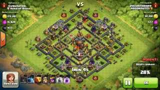 BM025 Balloons and Minions Strategy against champion level opponent - Clash of Clans CoC