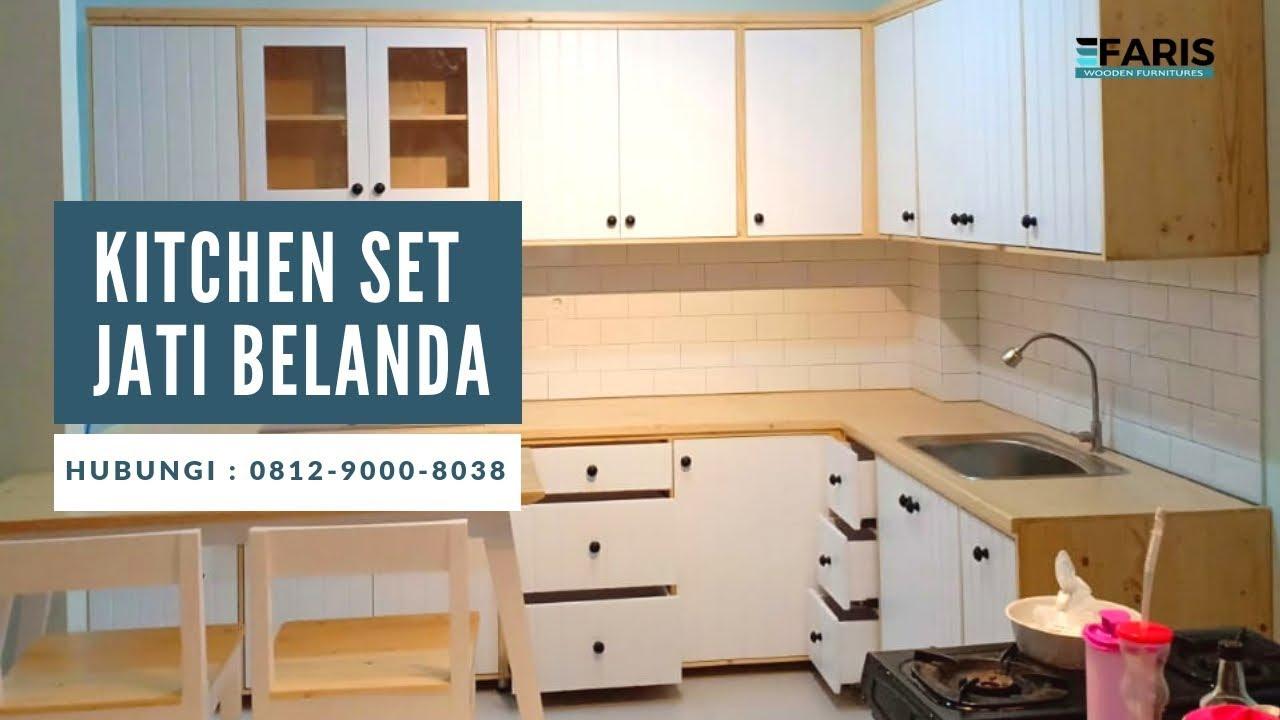 Harga Kitchen Set Jati Belanda Duco Youtube