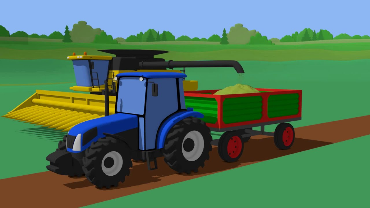 Massey Ferguson tractor and New Holland combine harvester Construction and Uses - Wooden Toys