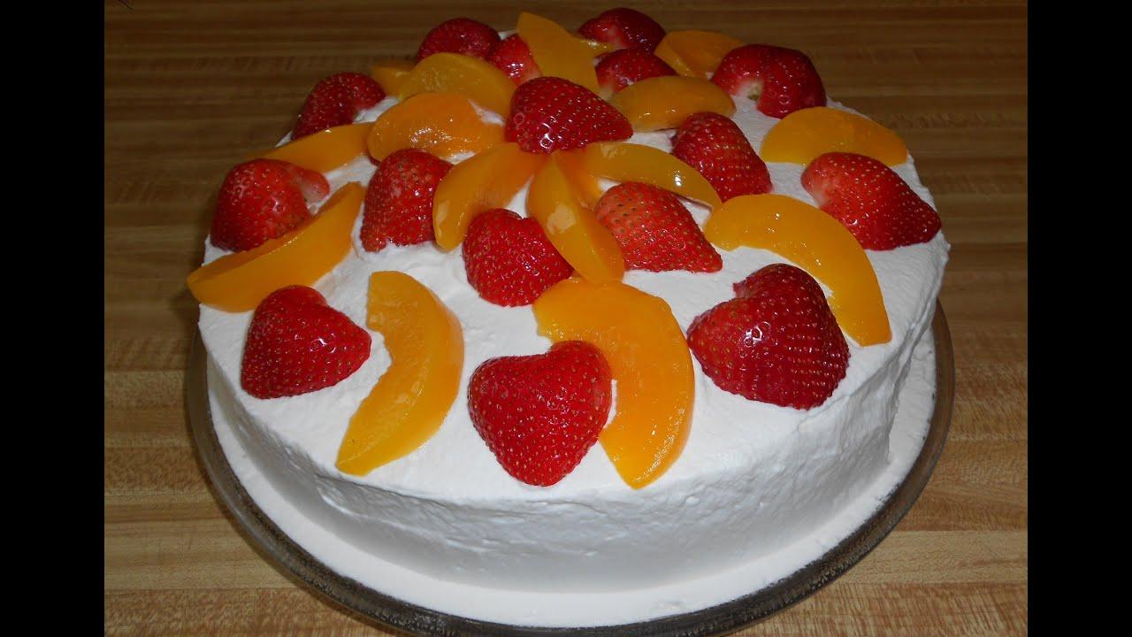 Receta para hacer pastel borracho con fresas y durazno for Como secar frutas para decoracion