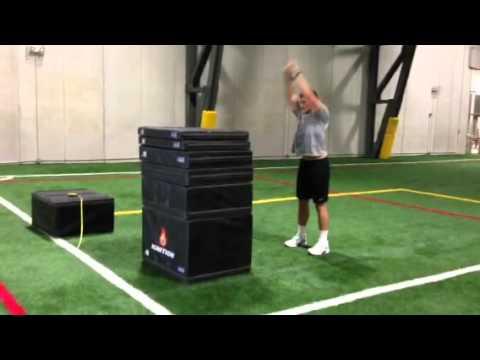 Luke Kuechly Box Jump