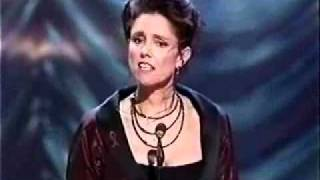 Julie Taymor Winning Best Direction Of A Musical At The 1998 Tony Awards